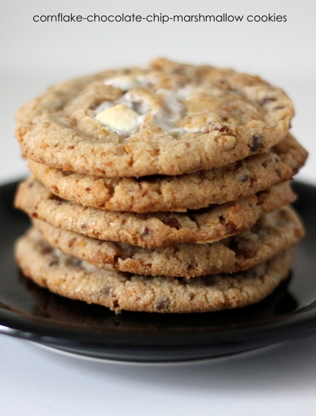 Cornflake-Chocolate Chip-Marshmallow Cookies Recipe — Dishmaps